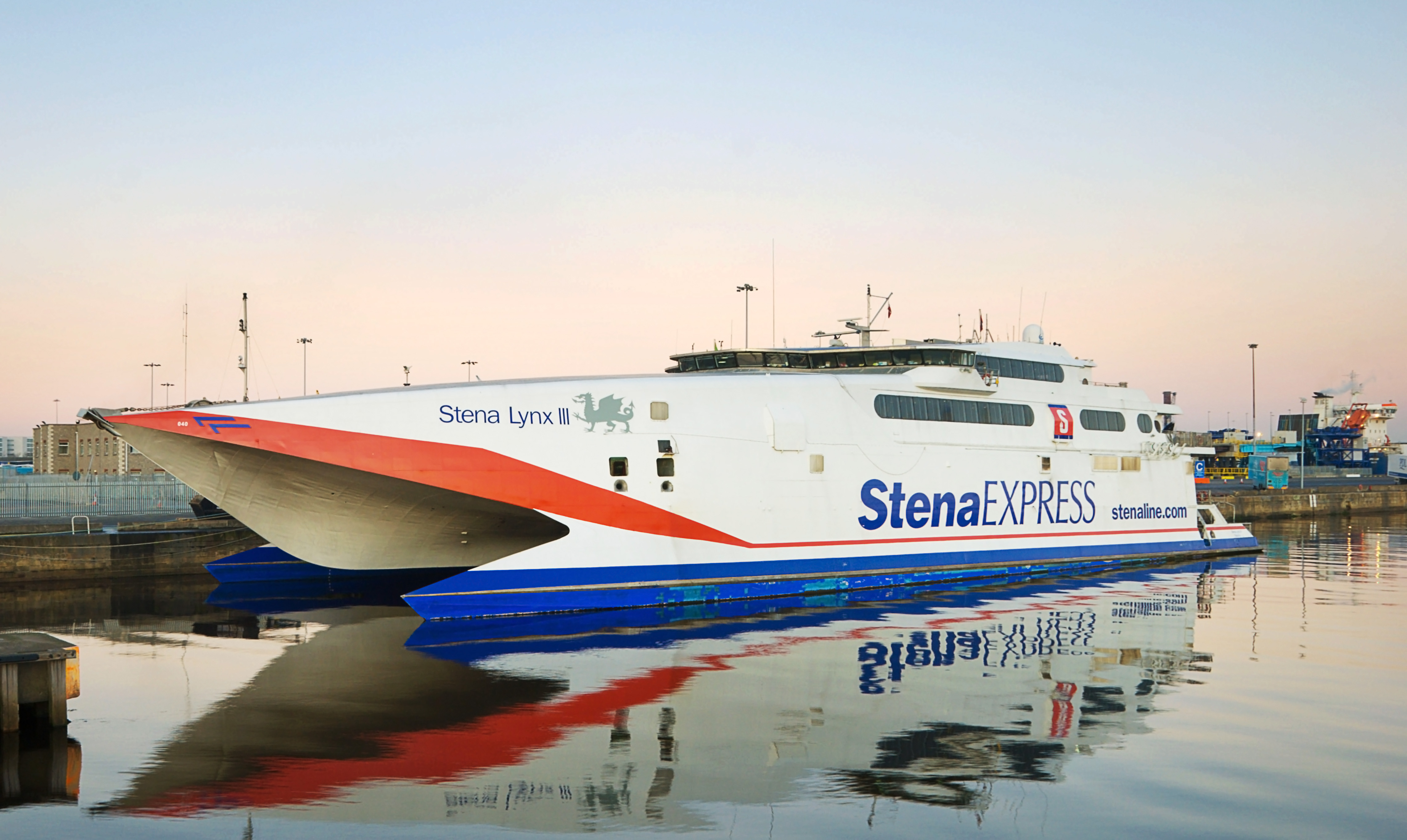 BA850D The Stena Lynx III moored at Dublin Docks. Image shot 12/2008. Exact date unknown.
